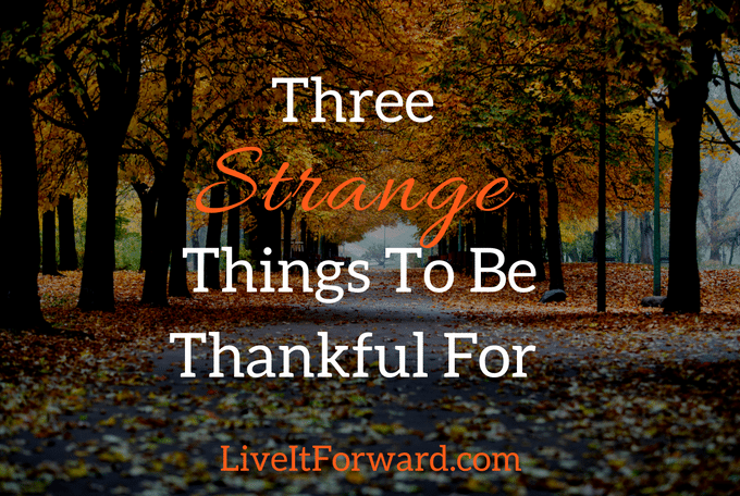 Three Strange Things To Be Thankful For