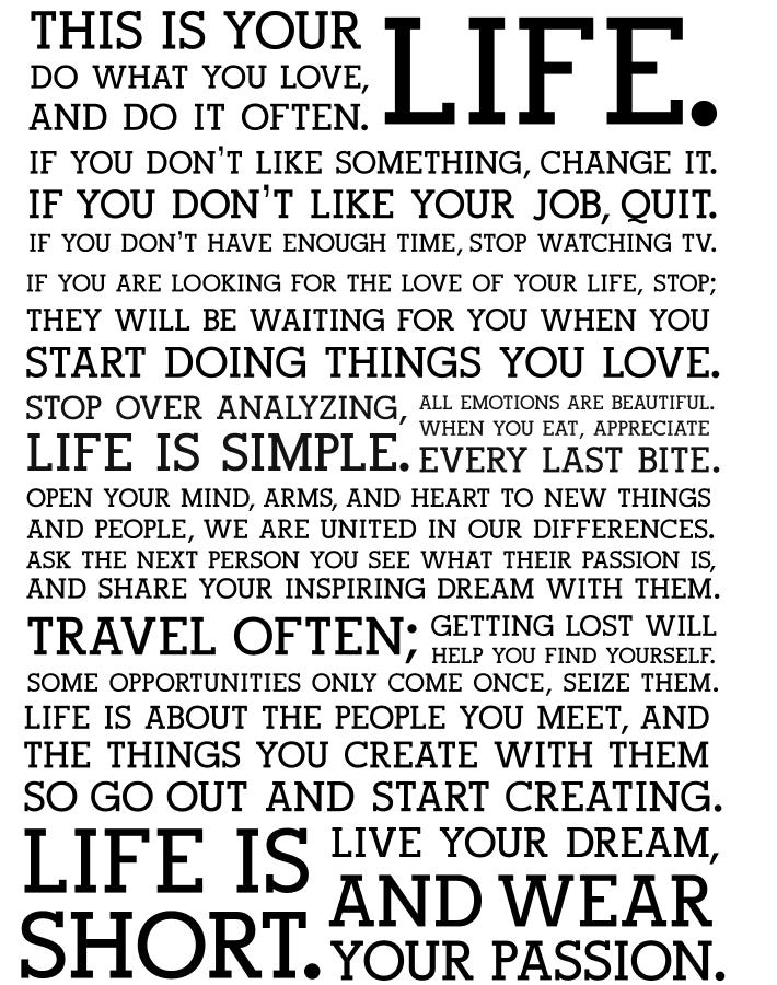 my inspiration in life short essay