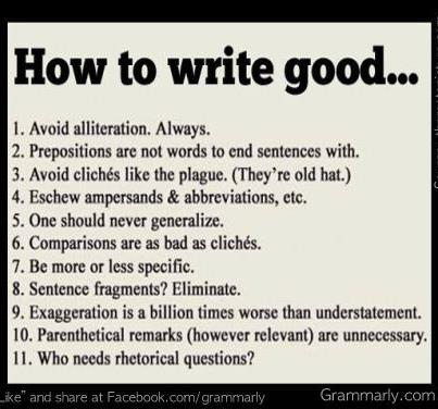 Just For Fun - How To Write Good
