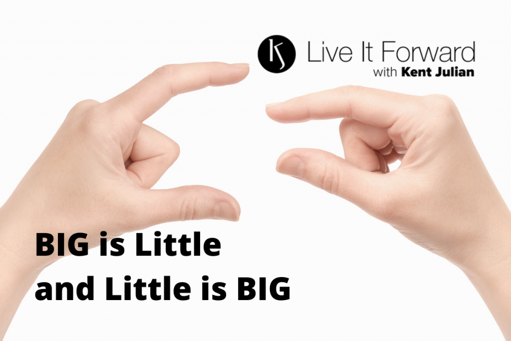 big is little shown by hands
