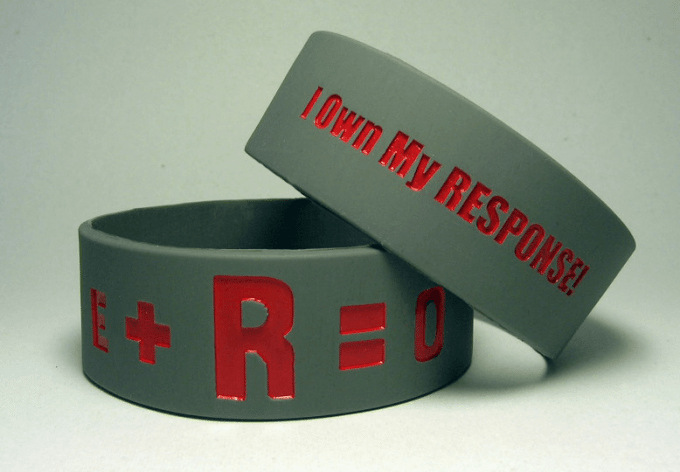 E+R=O Wristbands / OSU Football Wristbands / Ohio State Wristbands
