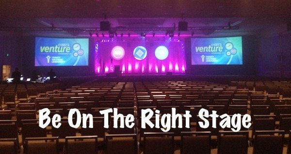 Success Mantra - Be On The Right Stage