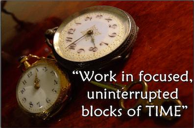 Success Factors - Work in Focused Uninterrupted Blocks of Time