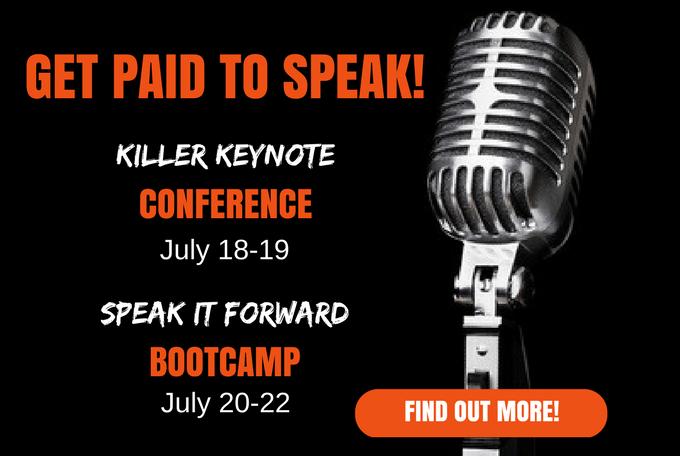 Live Event - Speak it Forward and Killer Keynote