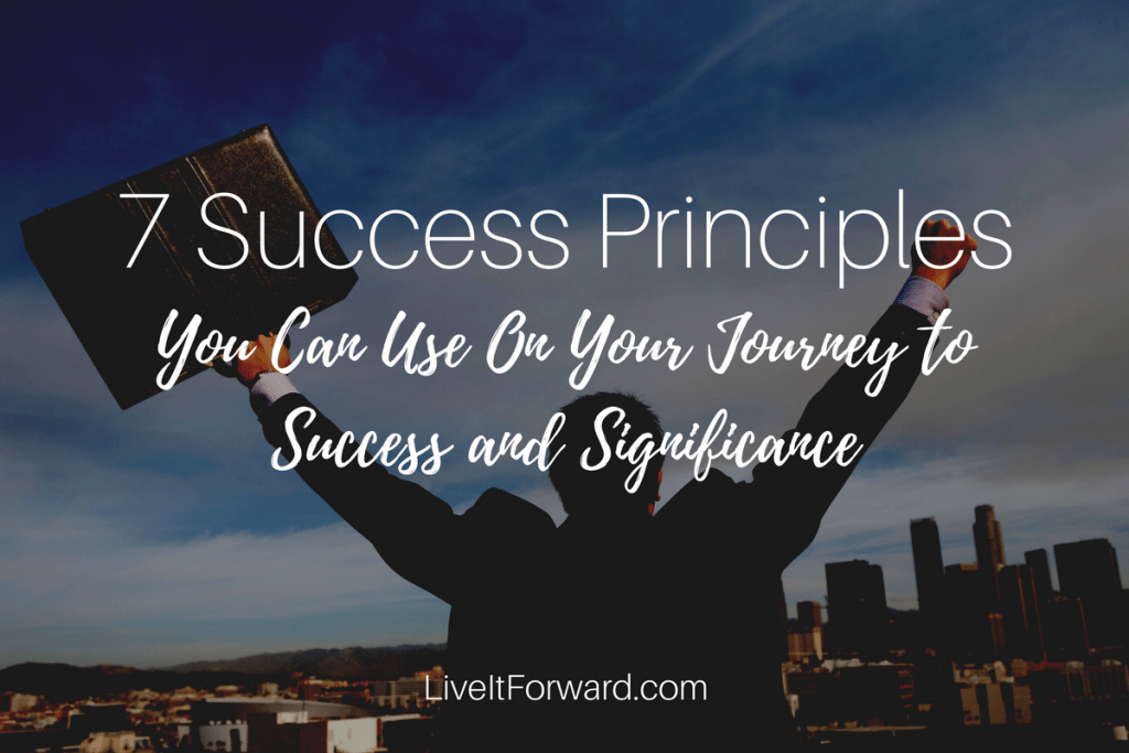 7 Success Principles You Can Use On Your Journey To Success and Significance
