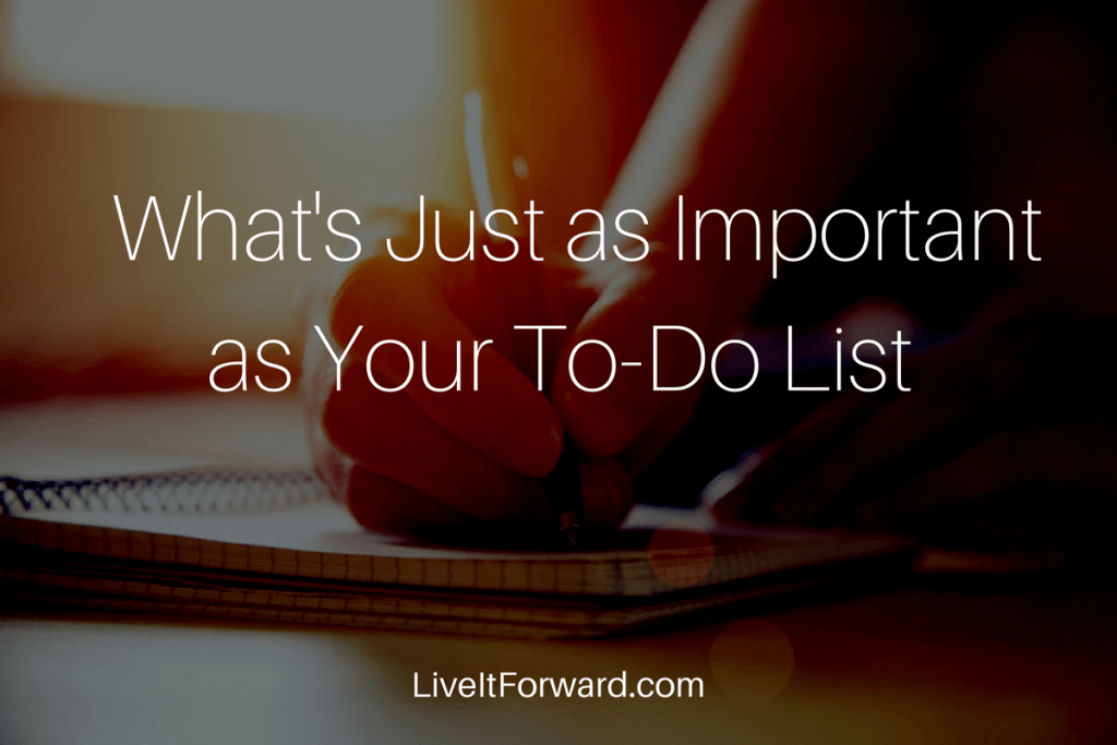 Hidden Secret to Success #4 - What's Just as Important as Your To-Do List