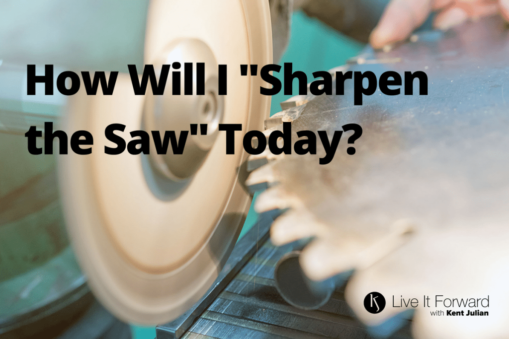 "LIF 110 - Power Questions: How Will I ""Sharpen the Saw"" Today?"